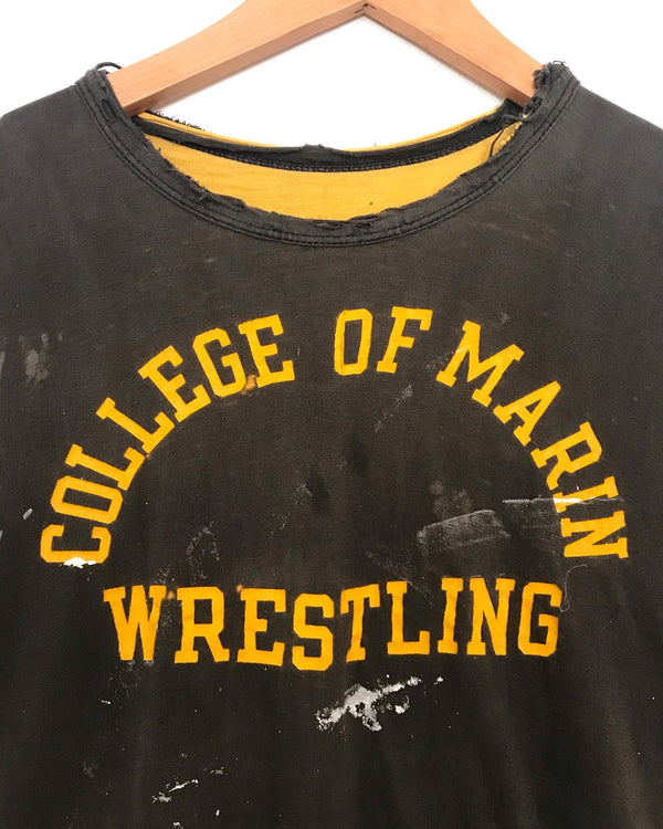 1970's Thrashed College of Marin Wrestling Tee