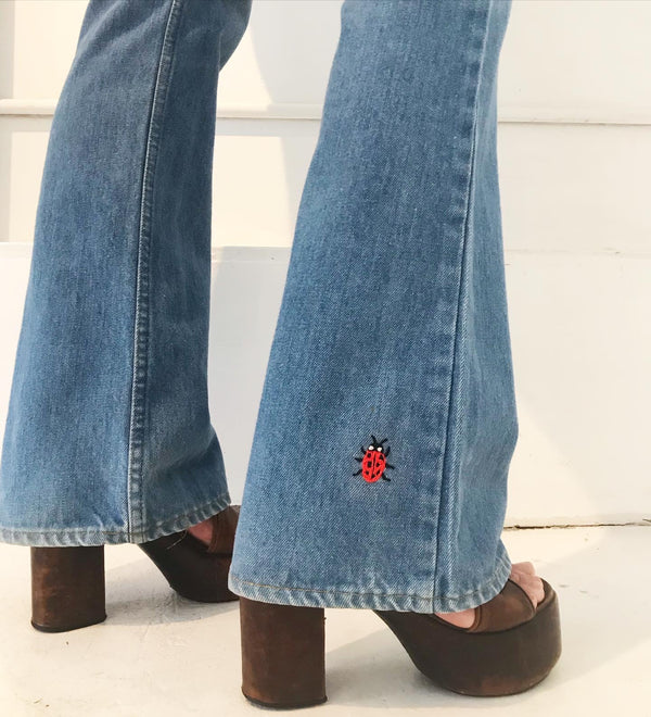 1970's Levi's orange tab Lovebug Bell bottoms