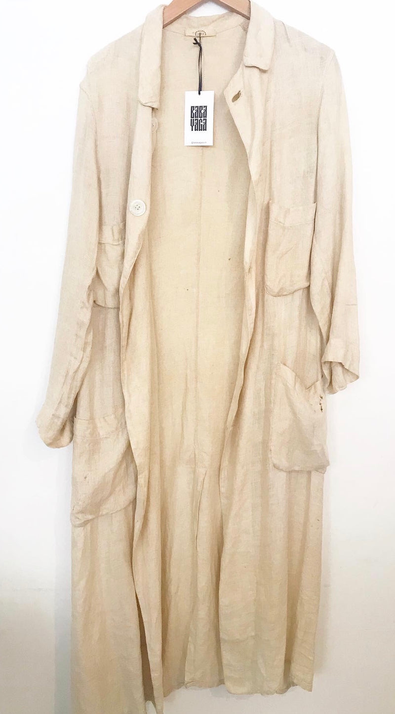 Early 1900s cream duster coat