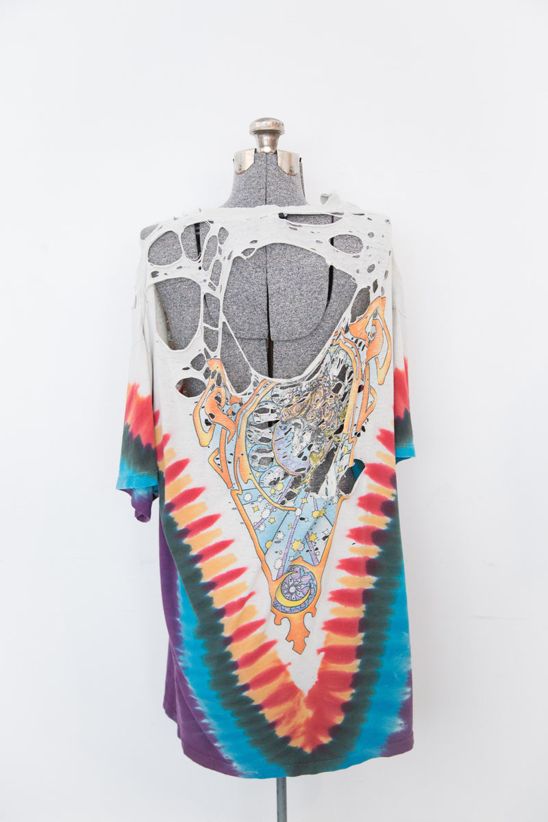 Vintage Shredded Tie-Dye Grateful Dead Shirt