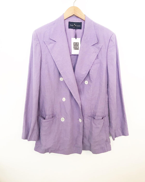 1970's Ralph Lauren purple cotton blazer