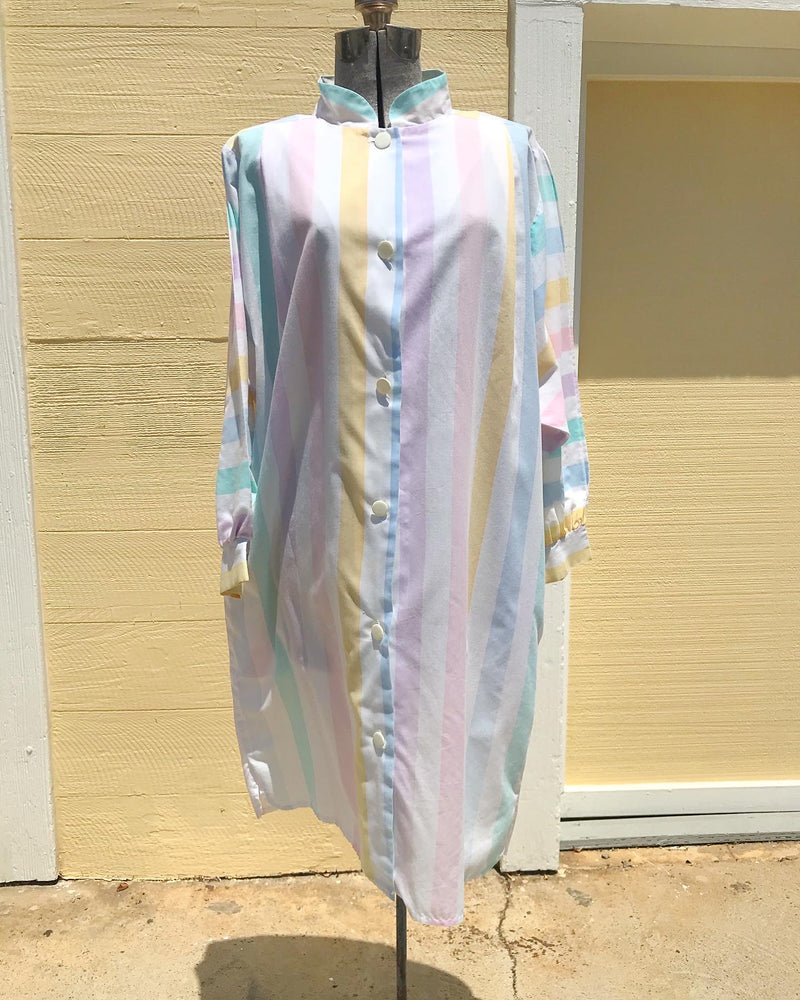 1980's Pastel Pierre Cardin Shirt Dress