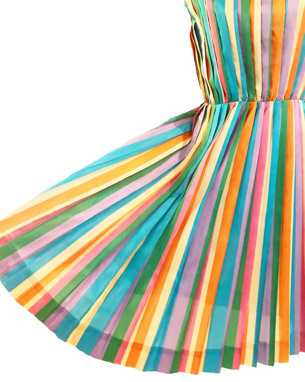 1940's Jerry Gilden Rainbow Dress