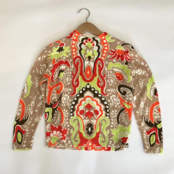 Graphic Vintage Neon Print Sweater
