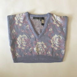 Cropped Gitano Sweater Lavender and Floral