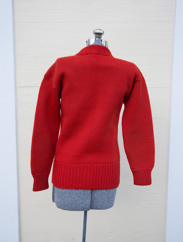 1960's Red Wool Varsity Sweater