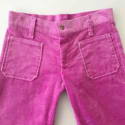 Pink Bell Bottom Velour Pants