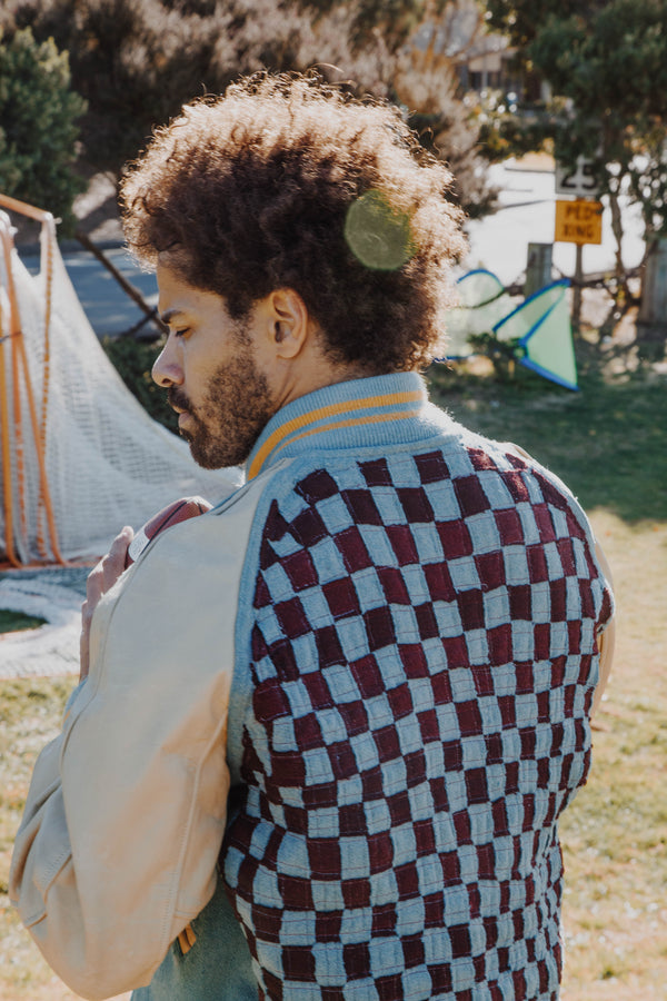 Upcycled Checkerboard Letterman