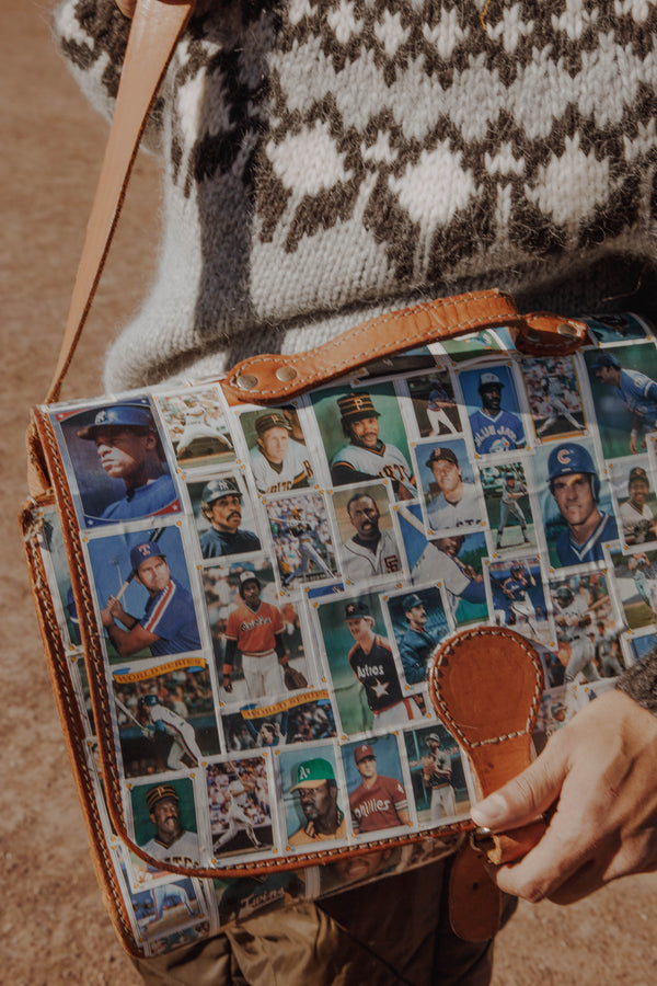 Upcycled Vintage Baseball Messenger Bag