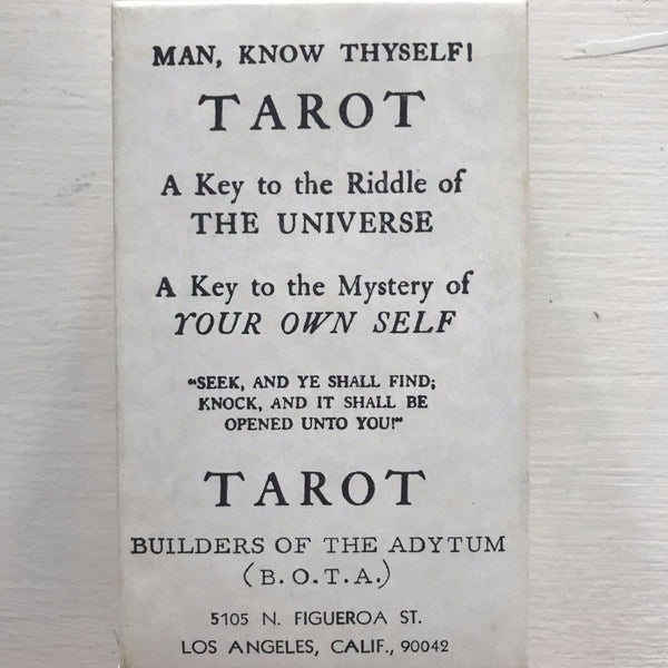1989 Builders of the Adytum Deck of Tarot Cards