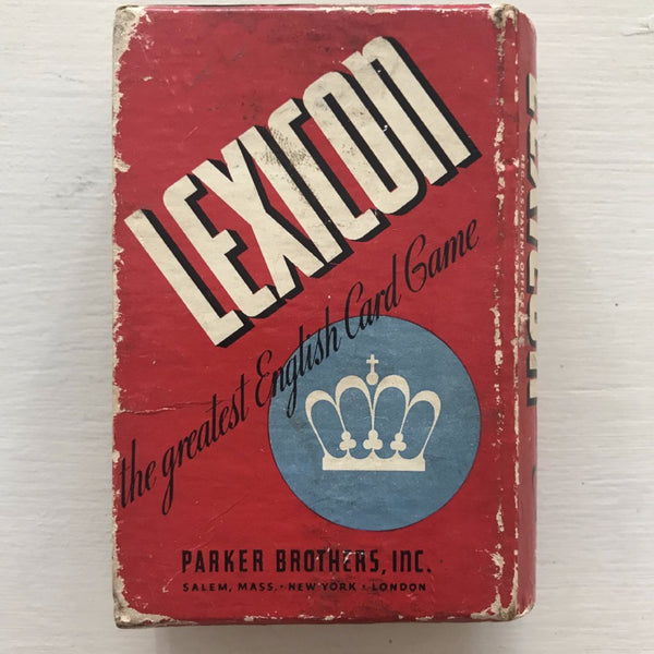1930's Lexicon Card Game
