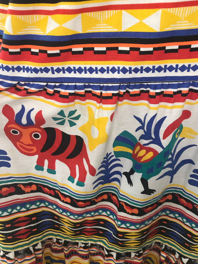70s Mexican Cotton Skirt