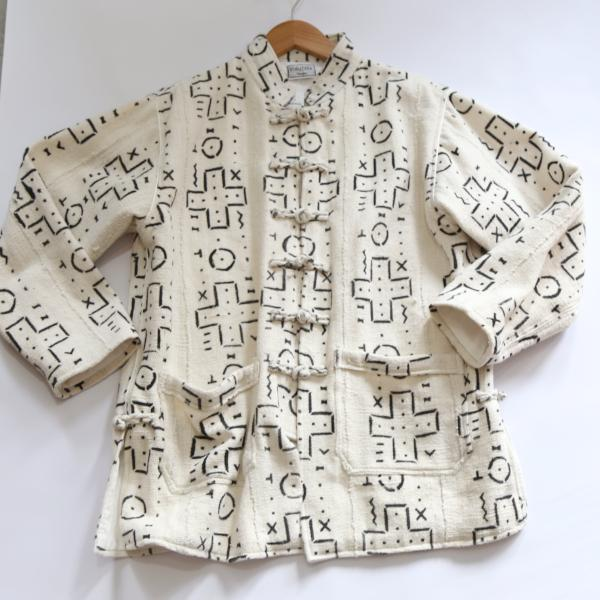 White African Jacket with Black print by Volubilis