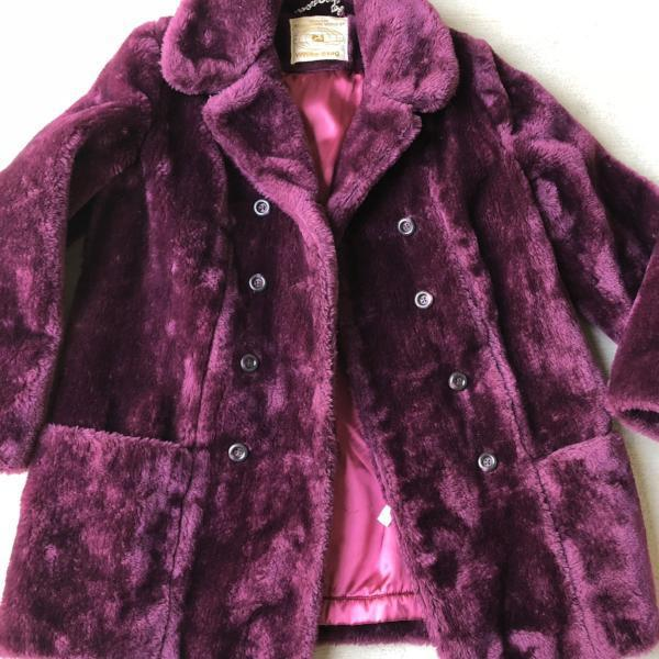 Vintage Raspberry Teddy Bear Jacket