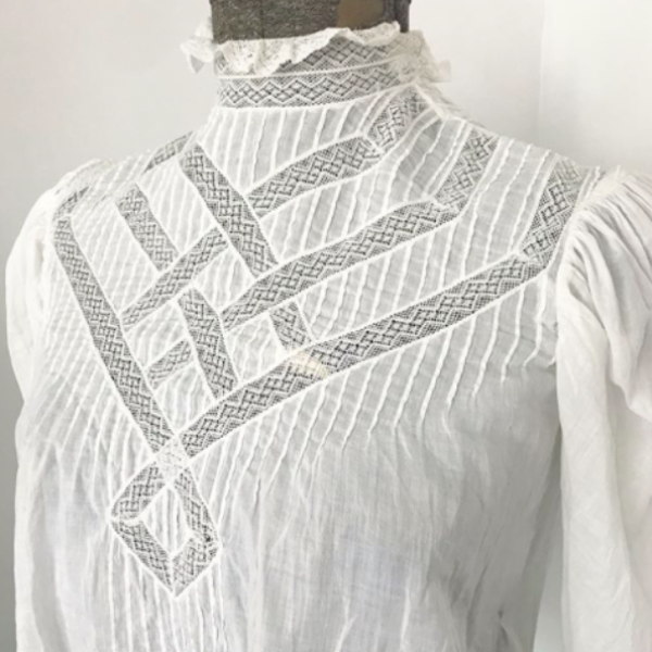 Edwardian White Lace Blouse