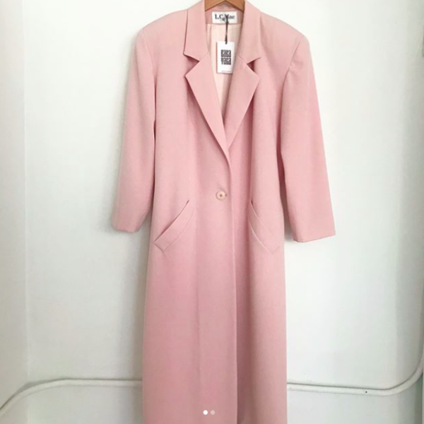 80's Pale Pink Long Coat