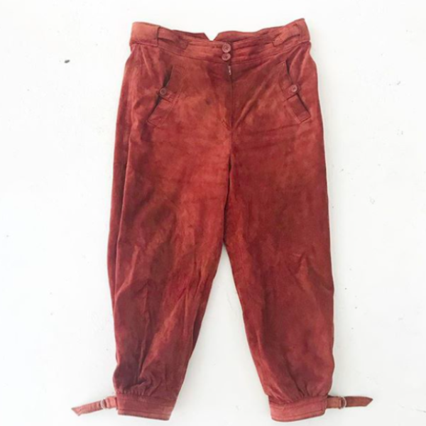 Vintage Suede Cropped Pants