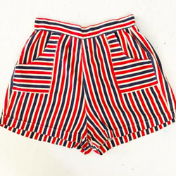 1960's Red White and Blue Striped Shorts