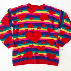 Heart and Rainbow Sweater