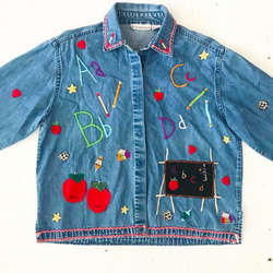 ABC School Embroidered Denim Shirt