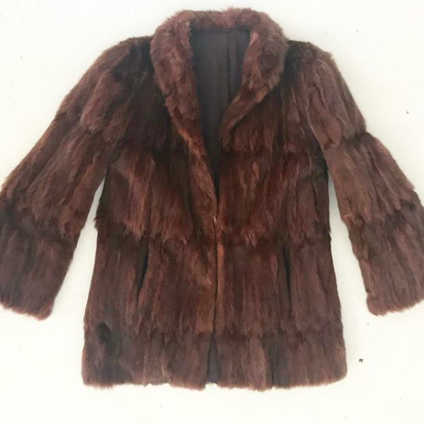 Vintage Red Squirrel Fur Coat
