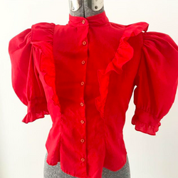 Red Ruffle shirt