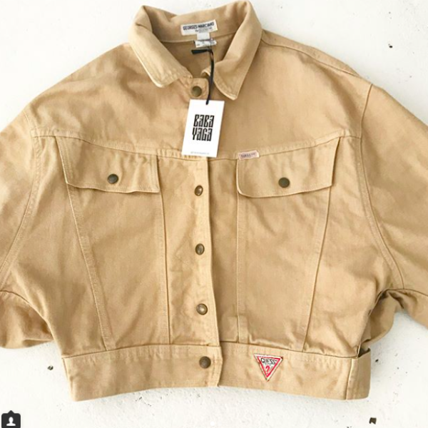 80's Tan Guess Jean Jacket