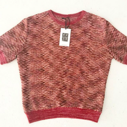 Missoni-style sweater top