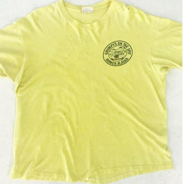 Yellow Alaska Ice Fishing Tshirt