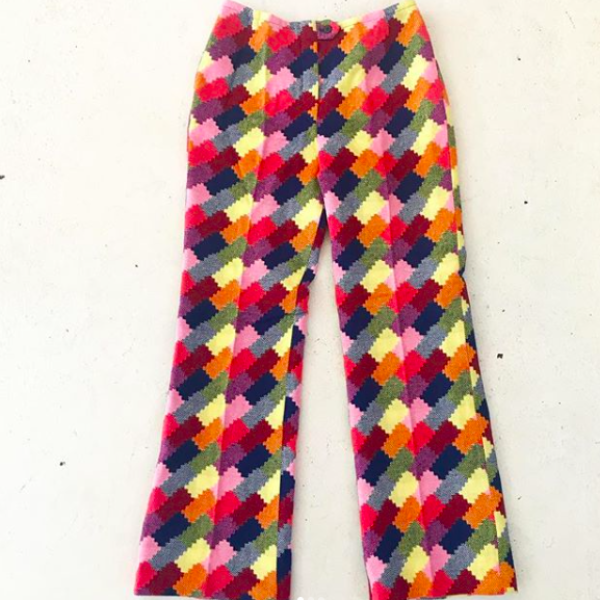 60's Knit Color Splotch Trousers