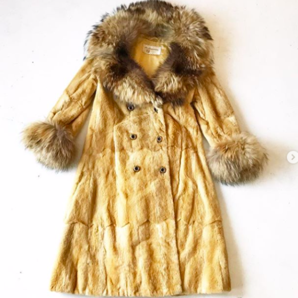 1970's Fur Coat with Fur Cuffs