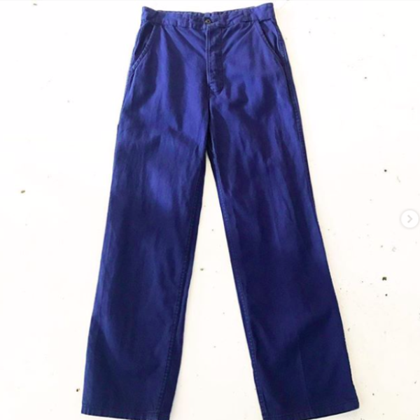 1970's French Blue Workwear Trousers