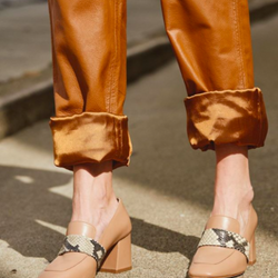 Caramel Leather Pants