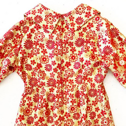 1960's Gold Lame Dress with Red Flowers