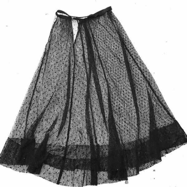 Edwardian netting skirt