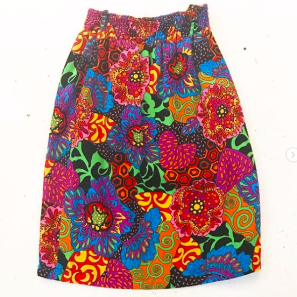 1980's Diane Freis Graphic Print Skirt
