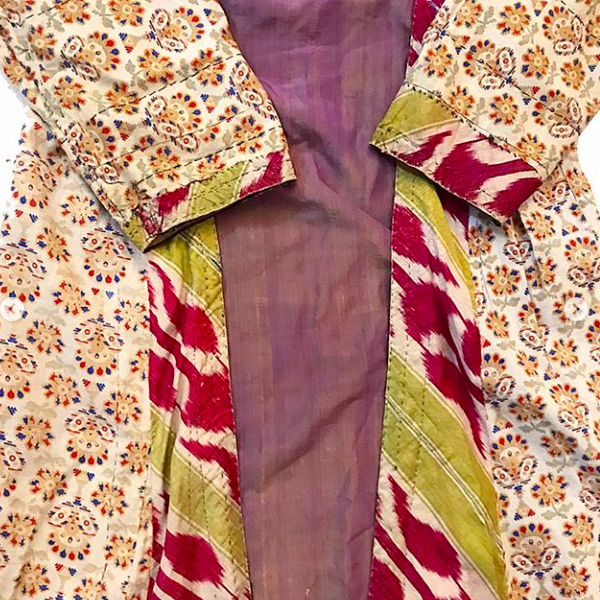 Antique Purple Silk Kaftan