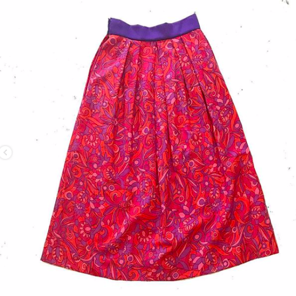 60's Handmade Psychedelic Skirt and Top Set