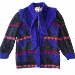 80's Escada Avant Garde Sweater Coat