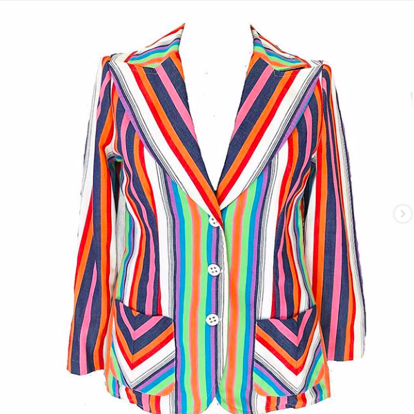 70's Rainbow Striped Blazer