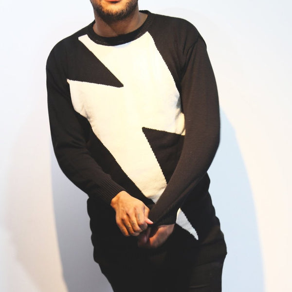 Pays Oversized Lightning Bolt sweater