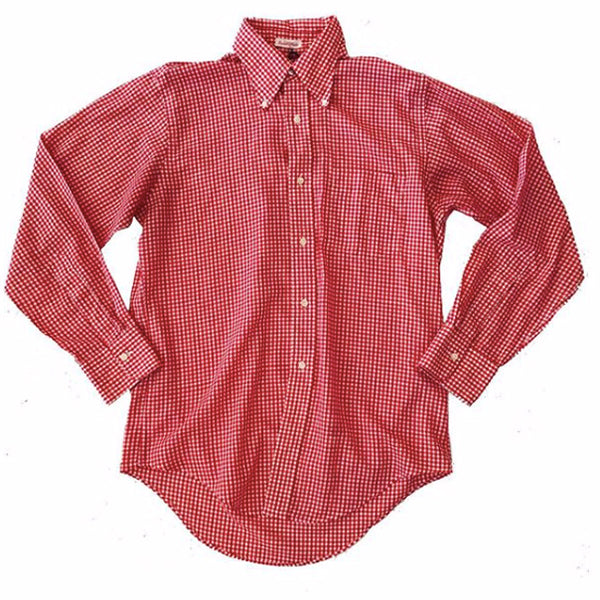 1970's Red and White Gingham Button-up