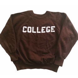 "1980's Brown ""College"" Sweatshirt"