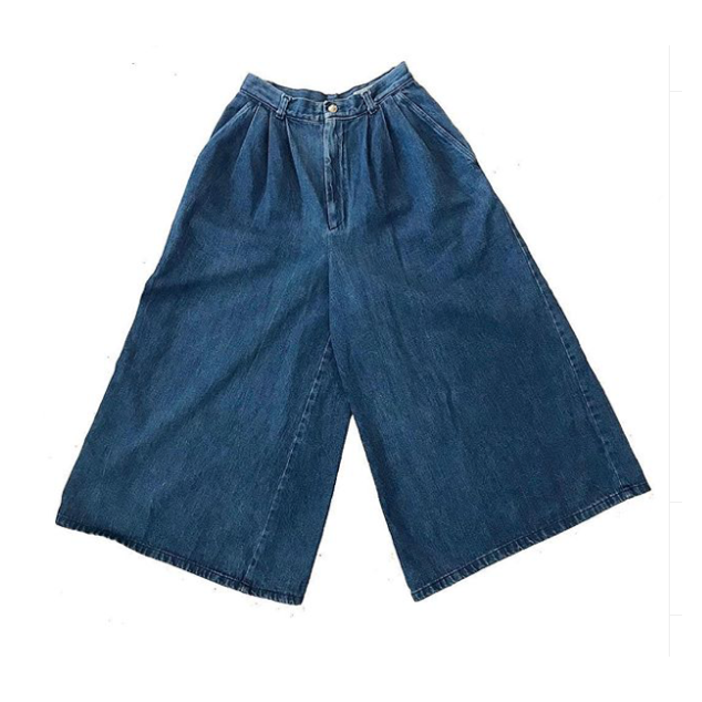 Vintage Wide Leg Denim Culottes