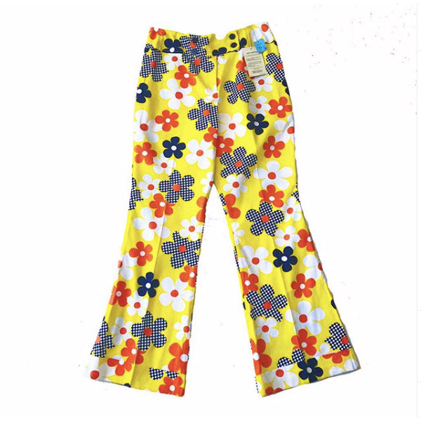 1960's Deadstock Floral Bell Bottoms