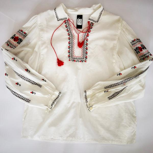Embroidered white ethnic blouse