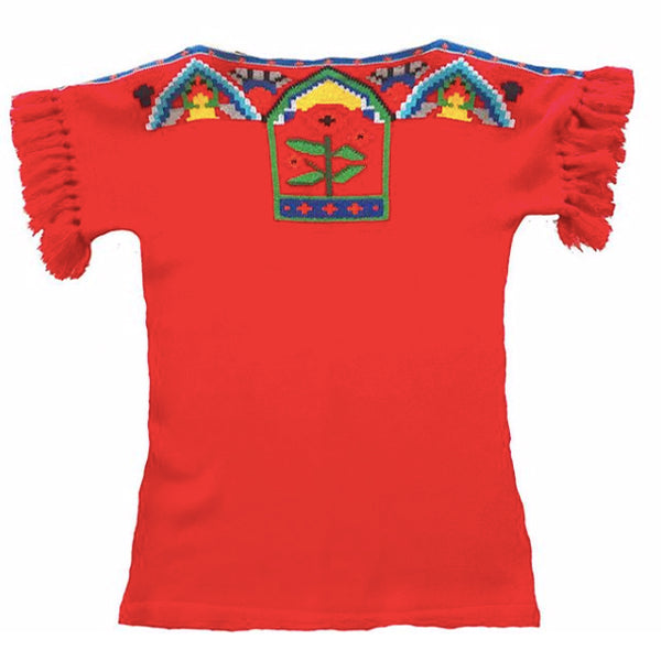 1970's Red Knit Sweater with Fringe