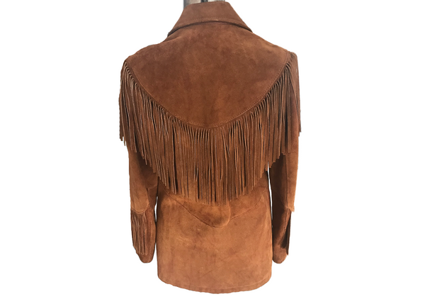 60's Suede Jacket with Fringe
