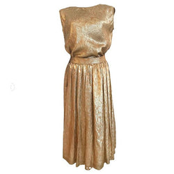 1960's Gold Lame Skirt & Top Set