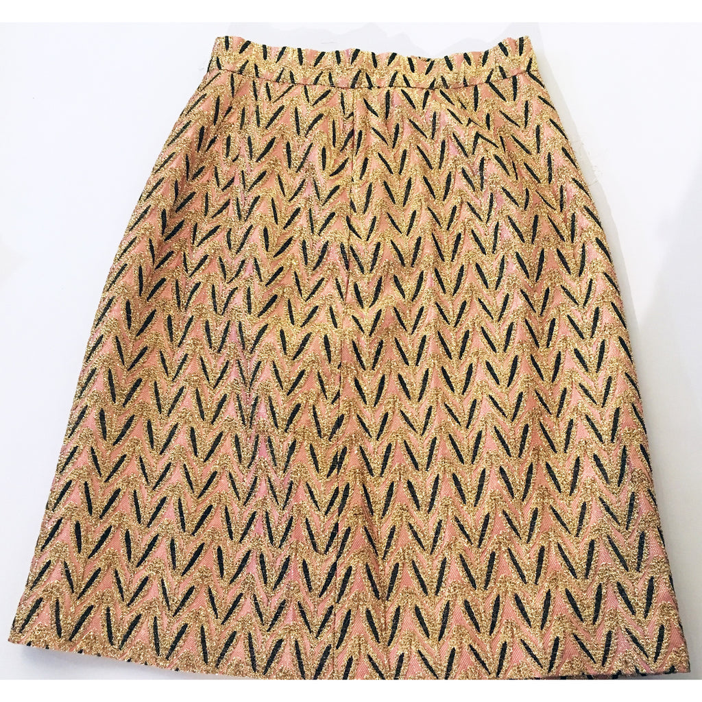 Vintage Pink and Gold Skirt